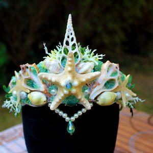 coiffes et couronnes de sirène Galatée, bijoux Galatée Merveilles
