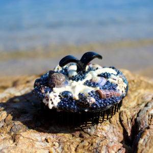 """Brosse de sirène """"Dark"""" - brosses de sirène - accessoires Galatée Merveilles - accessoires de sirène - accessoires coquillage - accessoires fantaisies"""