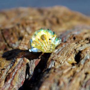 """Bague de sirène """"Coquillage sable"""" - bagues de sirène - bijoux Galatée Merveilles - bijoux de sirène - bijoux coquillage - bijoux fantaisies"""
