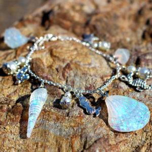 """Bracelet de sirène """"Trésor argenté"""" - bracelets de sirène - bijoux Galatée Merveilles - bijoux de sirène - bijoux coquillage - bijoux fantaisies"""
