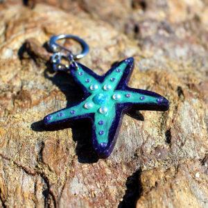 """Porte clé de sirène """"Etoile Ariel"""" - porte clés de sirène - accessoires Galatée Merveilles - accessoires de sirène - accessoires coquillage - accessoires fantaisies"""