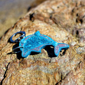 """Porte clé de sirène """"Dauphine"""" - porte clés de sirène - accessoires Galatée Merveilles - accessoires de sirène - accessoires coquillage - accessoires fantaisies"""
