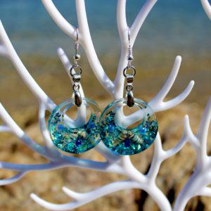"""Boucles d'oreille """"Anneaux bulle"""" - boucles d'oreille de sirène - bijoux Galatée Merveilles - bijoux de sirène - bijoux coquillage - bijoux fantaisies"""