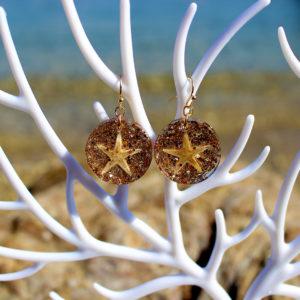 """Boucles d'oreille """"Stars"""" - boucles d'oreille de sirène - bijoux Galatée Merveilles - bijoux de sirène - bijoux coquillage - bijoux fantaisies"""