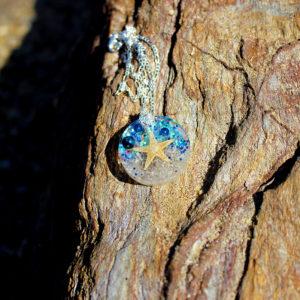 "Pendentif ""Only star"" - bijoux galatée merveilles - pendentif de sirène - bijoux de sirène - bijoux coquillage - bijoux fantaisies - colliers de sirène"