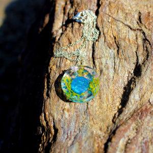 """Pendentif """"Ecailles & algues"""" - bijoux galatée merveilles - pendentif de sirène - bijoux de sirène - bijoux coquillage - bijoux fantaisies - colliers de sirène"""